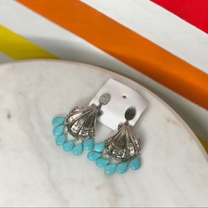 NEW Free People shell turquoise earrings